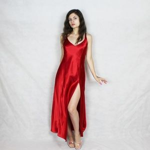 Frederick's of Hollywood Satin Red Dress